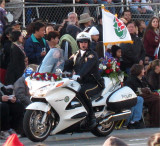 Police motorcycle all dressed up