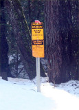 Lassen National Forest marker, Magalia