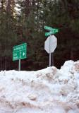 Street sign at Lovelock, 3,000 feet elevation