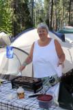 Mmmm, campground sausage!