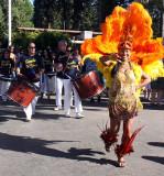Samba Da Terra and parade dancer