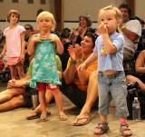 Kids watch the Banana Slugs String Band, Welcome Stage, from Santa Cruz, CA