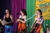 Mariposa Oxenberg (from left), Ariella Kristol Forstein, Addie Lupert of Yeh Dede