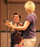Jacqui (left), Bernadette
