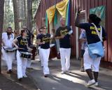 Samba Da Terra, from Sacramento, leads the parade