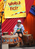 Member of Loping Wolf  wood flute and drum circle, Auburn, Ca, Oak Tree Stage
