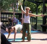 Anusara yoga, led by Paula Barros