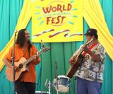 Hawaiian music comdrades John Cruz and Led Kaapana