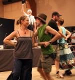 Contra dancers