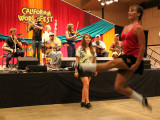 High-stepping teens dance to Pub Scouts traditional Irish music