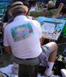 Artist capturing the Meadow Stage scene