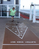 Donna, the expert shuffleboarder