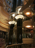 A couple of the ship's elevators