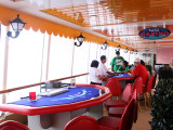 On deck casino tables