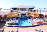 Top-side - decks 12 and 13 - place for sun, drinks, pool, hot tubs, daily live music