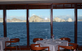 Cabo San Lucas from one of the ship's dining rooms