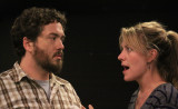 * A jealous Leontes, King of Sicilia, played by Sean Green confronts Hermione