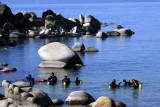 Alien beings in the water