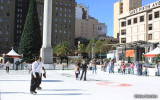 Ice skating at Union Square