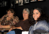 Donna, Elise, and Natalie await improv show at the Shelton Theater