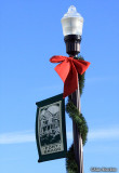 Seasonal pole on warm, sunny New Year's Day