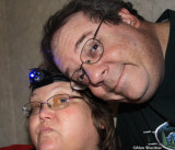 Alan & Donna at the hotel. Donna's ready for night vision