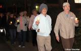 MLK Day commemorative candlelight walk