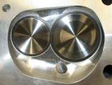 Edelbrock Aluminum Cylinder Head Combustion Chamber Close Up