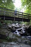 Chimney Tops Trail 4 - Rich on the Footbridge