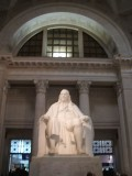 At the Franklin Institute, a statue of Franklin!