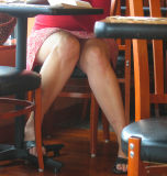 legs under the table: girls, boys, women, men