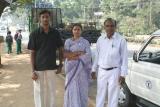 Babu's son, his wife, and Babu, in Mysore
