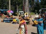 Vendors at lake