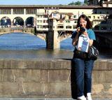 Andrys and Ponte Vecchio from Ponte Santa Trinita