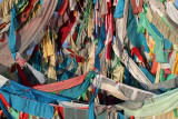 Prayer flags, Koko Nor Lake, Qinghai