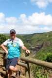 In front of the cascades of Tamarin