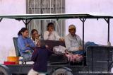 Family in horse-drawn cart