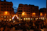 Spanish steps night shot