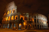 Colosseum night shot wide