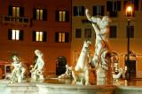 Trevi fountain night 3