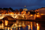 Vatican blue hour  from San Angelo bridge
