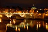 Vatican night shot from San Angelo bridge