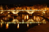 Vatican night shot from San Angelo bridge  2