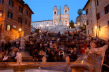 Spanish steps blue hour