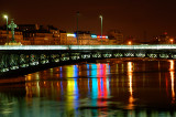 Lyon Rhone river at night 3