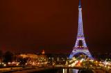 Eiffel in blue panorama