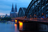 Cologne Cathedral bridge view