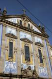 Blue tile facade