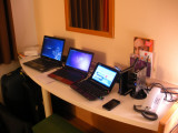 My portable lab in the IBIS hotel