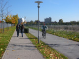 Path to the office. Stay clear of the bike path